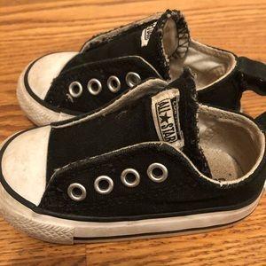 Black Velcro Converse Sneakers